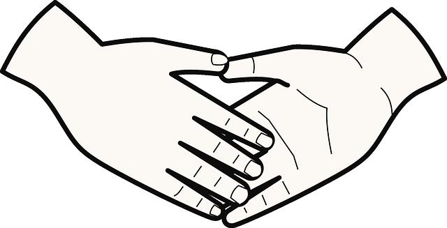 mempererat kekeluargaan dengan berjabat tangan